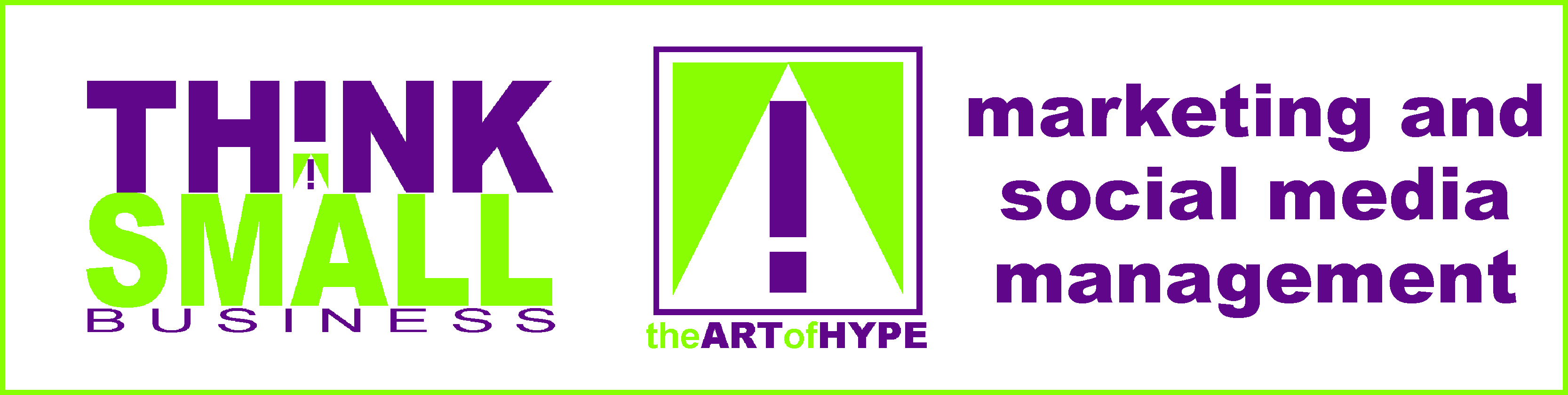 the art of hype small business marketing banner